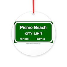 Pismo Beach Ornament (Round)