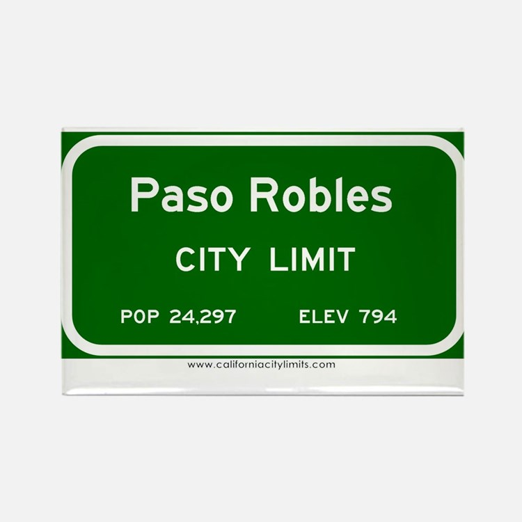 Paso Robles Rectangle Magnet