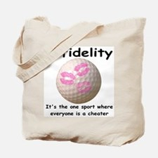 Infidelity Golf Tote Bag