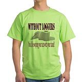 Logger Green T-Shirt