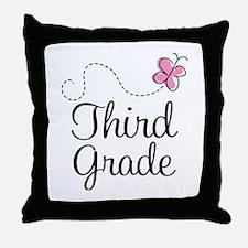 Cute 3rd Grade Throw Pillow