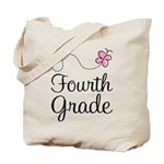 Butterfly Fourth Grade Tote Bag