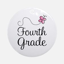 Butterfly Fourth Grade Ornament (Round)