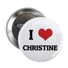 I Love Christine Button