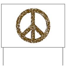 Vintage Peace Sign Yard Sign