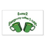 E=mc2 Rectangle Sticker