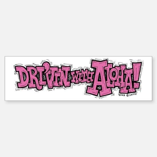 Dri'vin with Aloha! Bumper Car Car Sticker