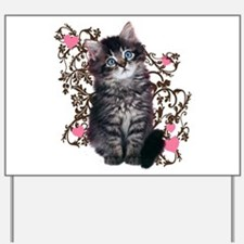 Cute Kitten Kitty Cat Lover Yard Sign