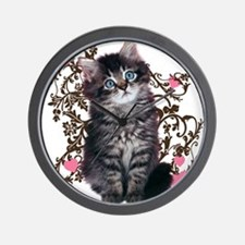 Cute Kitten Kitty Cat Lover Wall Clock