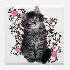 Cute Kitten Kitty Cat Lover Tile Coaster