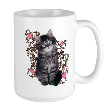 Cute Kitten Kitty Cat Lover Large Mug