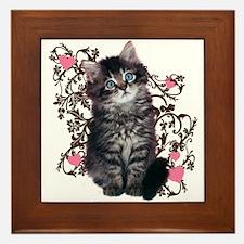 Cute Kitten Kitty Cat Lover Framed Tile