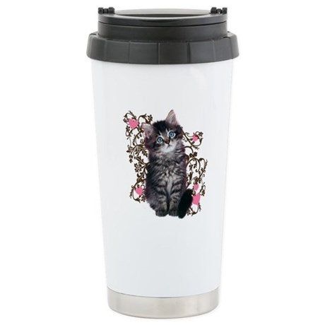 Cute Kitten Kitty Cat Lover Stainless Steel Travel