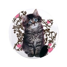 "Cute Kitten Kitty Cat Lover 3.5"" Button (100 pack)"
