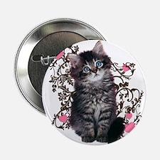 """Cute Kitten Kitty Cat Lover 2.25"""" Button (100 pack"""