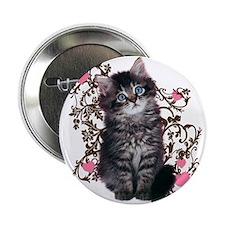 """Cute Kitten Kitty Cat Lover 2.25"""" Button (10 pack)"""