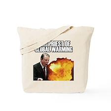 High Priest of Global Warming Tote Bag