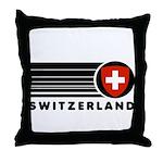 Switzerland Vintage Throw Pillow