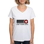 Switzerland Vintage Women's V-Neck T-Shirt