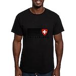 Switzerland Vintage Men's Fitted T-Shirt (dark)