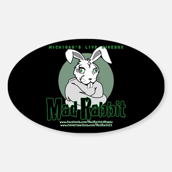 Mad Rabbit Oval Decal
