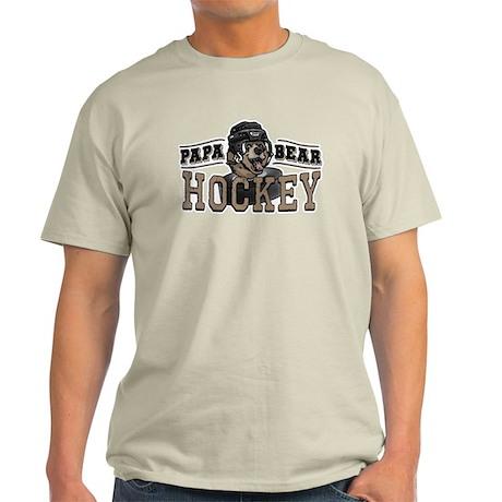 Papa Bear Hockey 2 Light T-Shirt