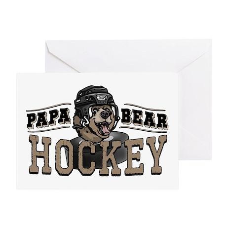 Papa Bear Hockey 2 Greeting Card