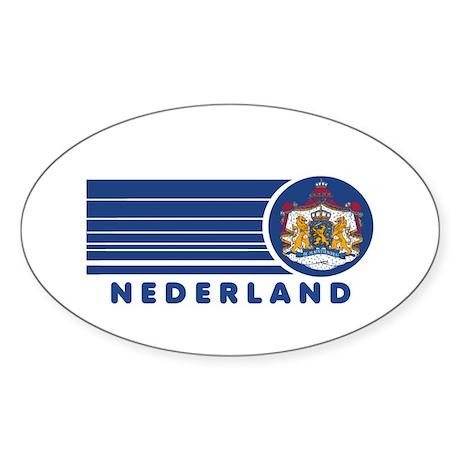 Nederland Vintage Oval Sticker
