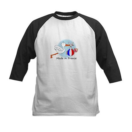 Stork Baby France Kids Baseball Jersey