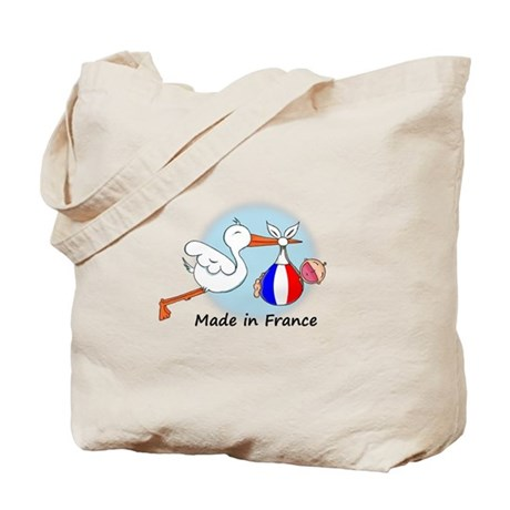 Stork Baby France Tote Bag