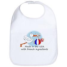 Stork Baby France USA Bib