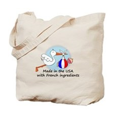 Stork Baby France USA Tote Bag