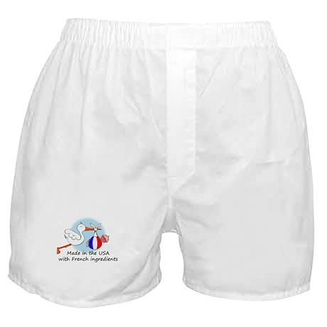 Stork Baby France USA Boxer Shorts