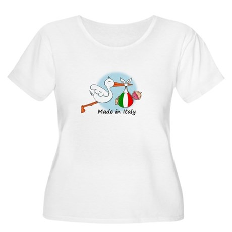 Stork Baby Italy Women's Plus Size Scoop Neck T-Sh