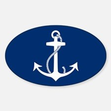 Anchor Sticker (Oval)