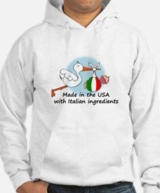 Stork Baby Italy USA Hoodie