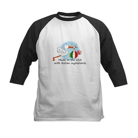 Stork Baby Italy USA Kids Baseball Jersey