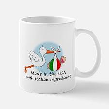 Stork Baby Italy USA Mug