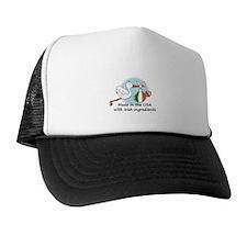 Stork Baby Ireland USA Trucker Hat