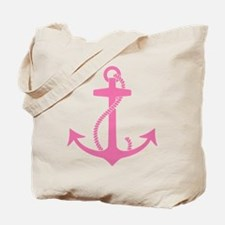 Pink Anchor Tote Bag