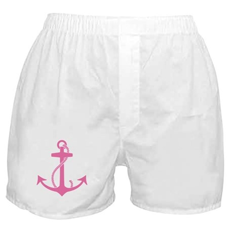 Pink Anchor Boxer Shorts