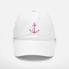 Pink Anchor Baseball Baseball Cap