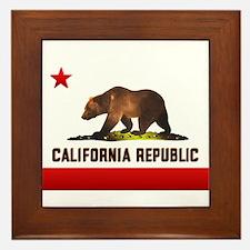 California Bear Framed Tile