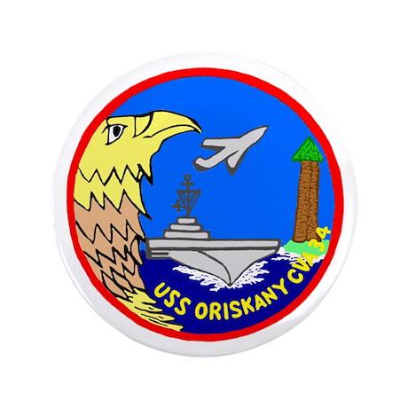 "USS Oriskany (CVA 34) 3.5"" Button"