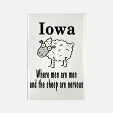 Iowa Sheep Rectangle Magnet
