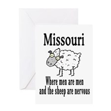 Missouri Sheep Greeting Card
