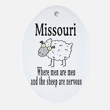 Missouri Sheep Oval Ornament