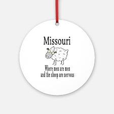 Missouri Sheep Ornament (Round)