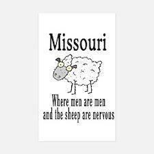 Missouri Sheep Rectangle Decal