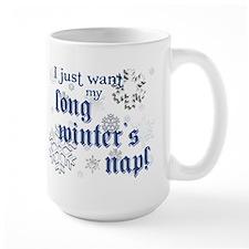 Winter's Nap (Blue) Mug